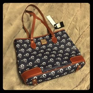 Rams NFL official Dooney & Bourke tote NWT